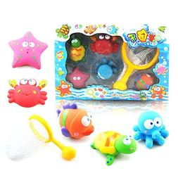 COFFLED Baby Bath Water Toy for Fish Puzzle Boxed Duck Toddl