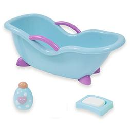 JC Toys 4-Piece Blue and Pink Baby Doll Bath Gift Set Fits M