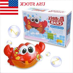 Bubble Crab Baby Bath Toy Bubble Machine Musical Bubble Make