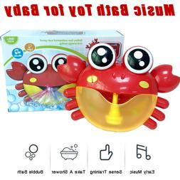 Bubble Machine Big Crab Automatic Bubble Maker Blower Music