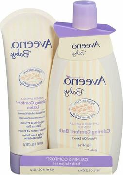 Aveeno Baby Calming Comfort Bath  Lotion Set, Baby Skin Care