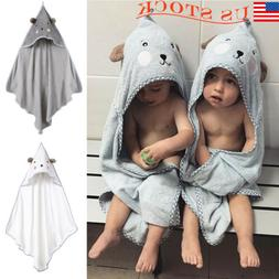 Children's Cartoon Hooded Cape Towel Baby Kids Home Beach Ba