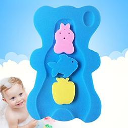 UNAOIWN Comfy Infant Baby Bath Sponge Cushion Anti Bacterial