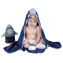 Baby Aspen Cosmo TOT Spaceship Gift Set, Blue/Yellow Mint, 4