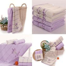 Cotton Embroidery Lavender Aromatherapy Soft Bath Hand Face