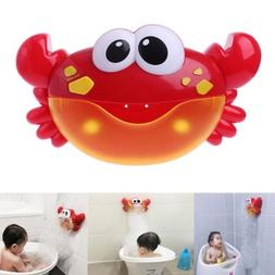 Crab Bubble Bathroom Machine Bubble Maker Bath Toy Kid Baby