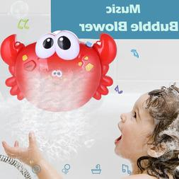 Crab Bubble Machine Musical Bubble Maker Bath Baby Kids Toy