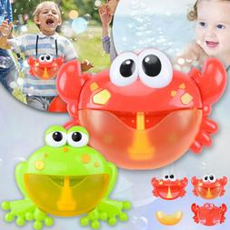 Crab/Frog Bubble Machine Musical Bubble Maker Bath Baby Kids