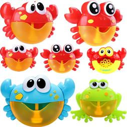 Crab Frog Bubble Maker Machine Musical Bath Baby Toy Child S