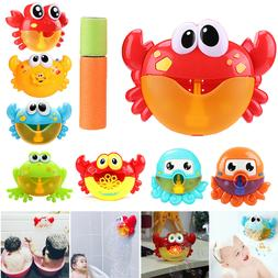 Crabs Electric Bubble Maker Machine Baby Kids Shower Bath Mu