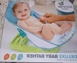 Summer Infant Deluxe Baby Bather Blue NEW 3 position recline