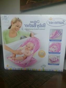 Summer Infant Deluxe Baby Girl's Bather Pink Dots New Unused