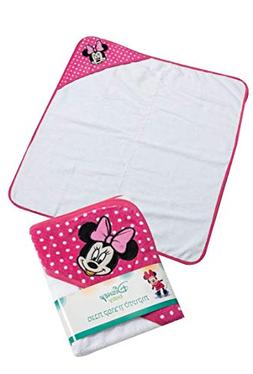 Disney Minnie Mouse Baby Girls Hooded Soft Bath Dotted Towel