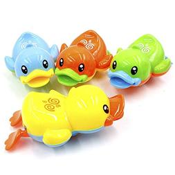Baidercor Ducks Wind Up Bath Toy Water Floating Animals Toy