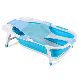 Costzon Baby Folding Bathtub, Infant Collapsible Portable Sh