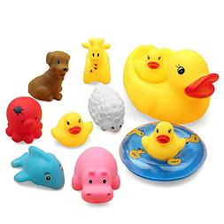 Baidercor Fun Baby Bath Toy Set Water Floating Squeaky Toy 1
