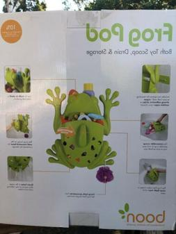 Green Frog Pod Bath Toy Scoop, Stores And Organizes Bath Toy
