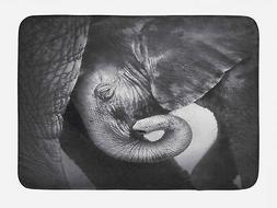 Grey Bath Mat Elephant Mother and Baby Non-Slip Plush Mat, 2