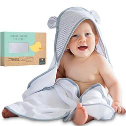 Premium Baby Hooded Towel and Washcloth Set - Extra Soft | O