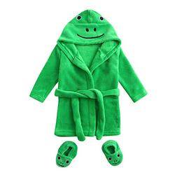 Infant Baby Boys Girls Cartoon Flannel Bathrobes, Hoodie Sle