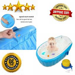 Baby Inflatable Bathtub, FLYMEI Portable Infant Toddler Non