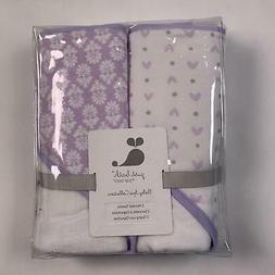 "Just Bath By Just Born 2 Hooded Baby Towels Lavender 30"" X 3"