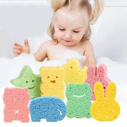 Kids Bath Brushes Sponge Animal Pattern Children Shower Prod