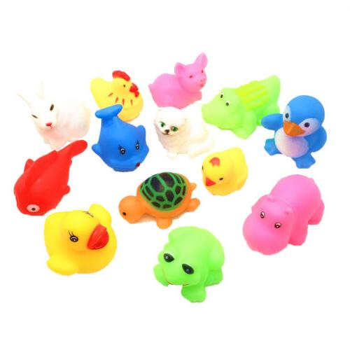 13Pcs Float Wash Animals Toys