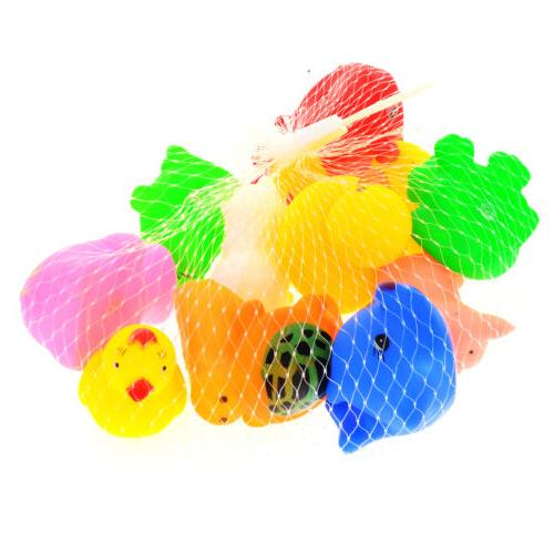 13Pcs Float Sqeeze Wash Bath Animals Toys