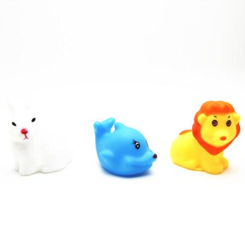 13Pcs Cute Soft Rubber Float Wash Toys