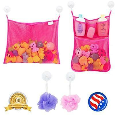 2 categories x mesh bath toy organizer
