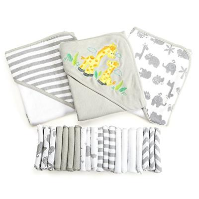Spasilk 23-Piece Essential Baby Bath Gift Set � Hooded Bab