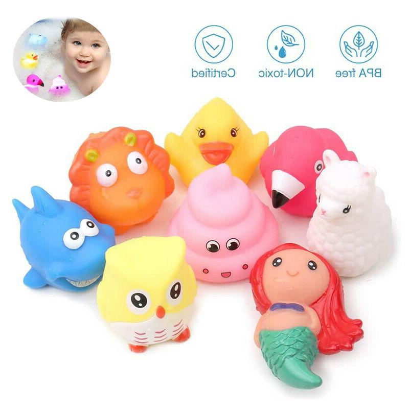 8pc bath floating toddler play baby toys