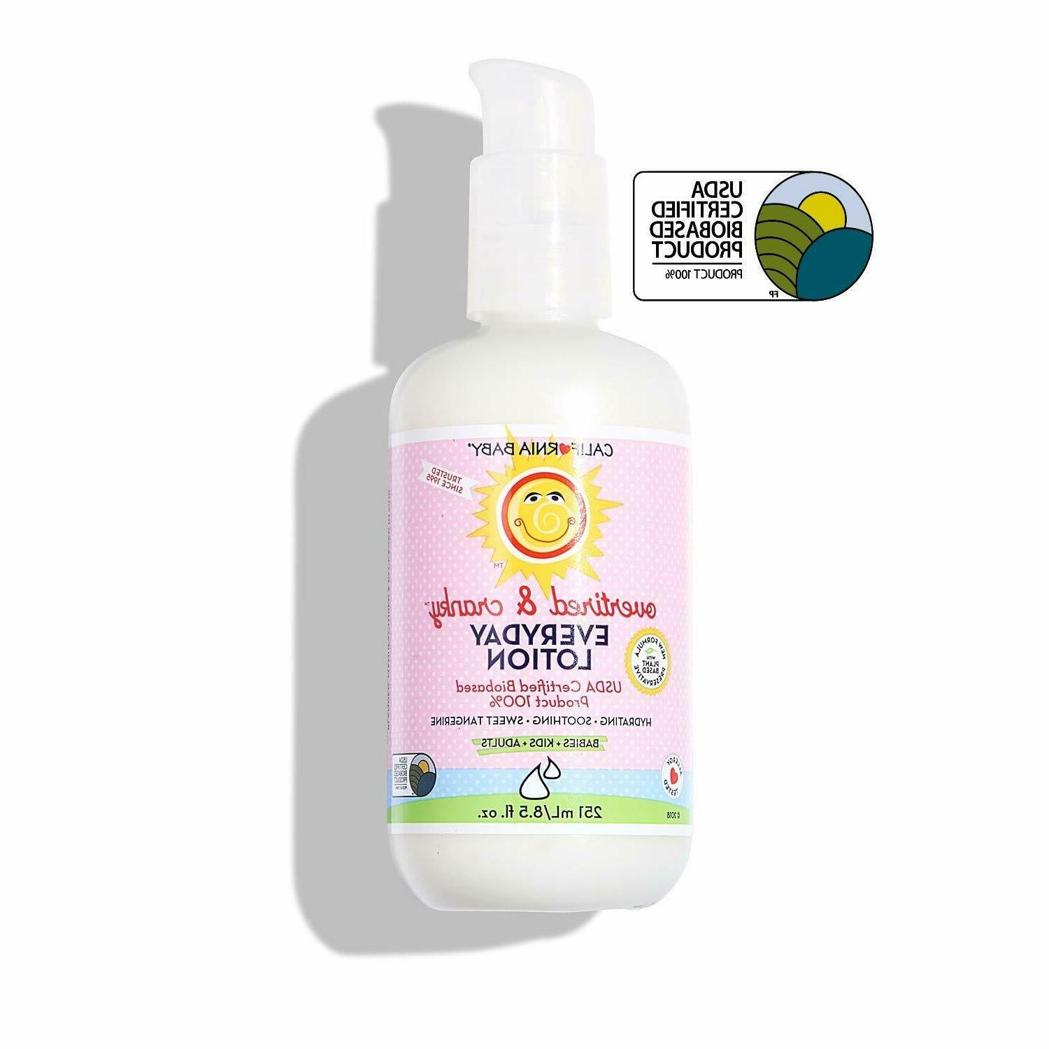 California Baby Everyday Lotion with Pump - Overtired & Cran
