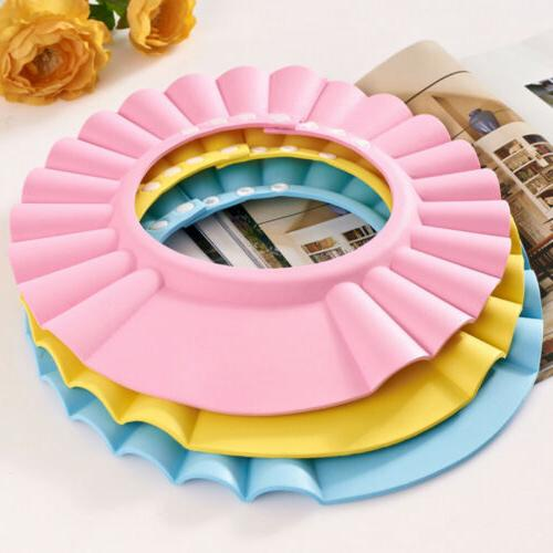 Adjustable Kids Baby Cap Bath Shower Hat Shield