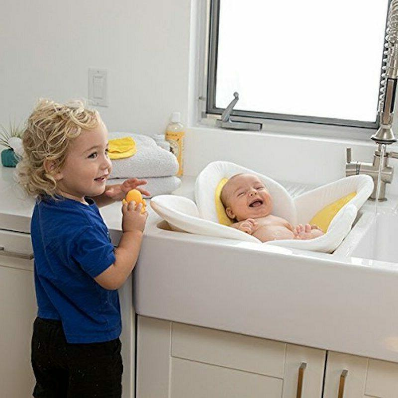 Baby Flower Bath Tub Newborn Blooming Bath Foldable Shower