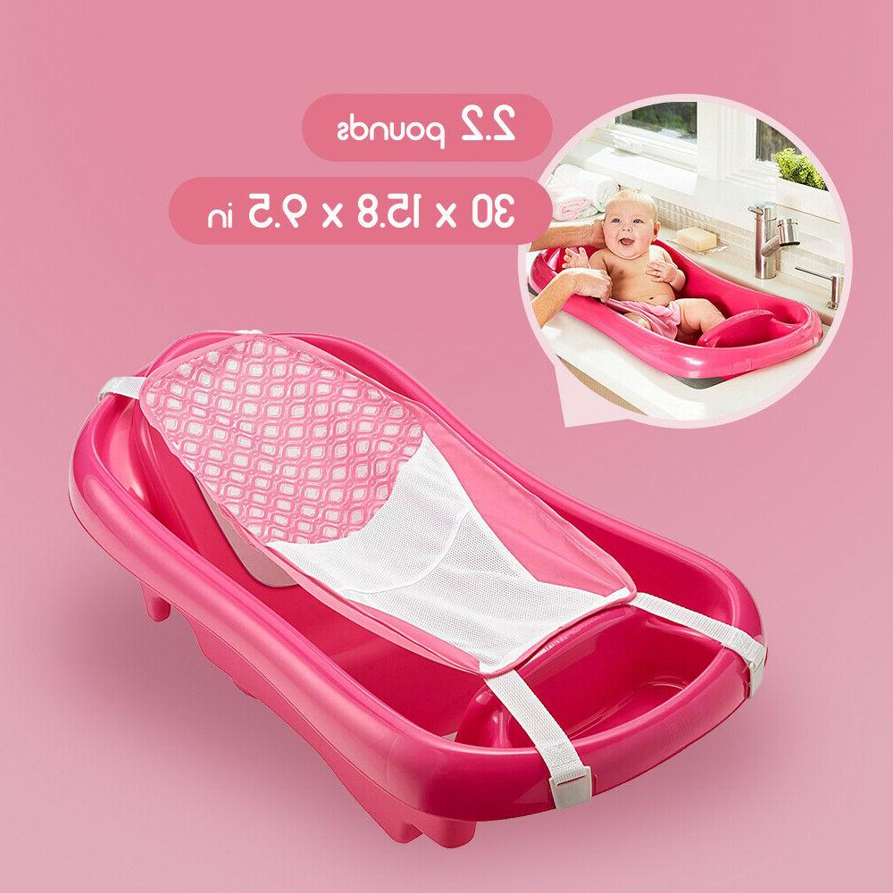 baby infant bath tub safety pink seat