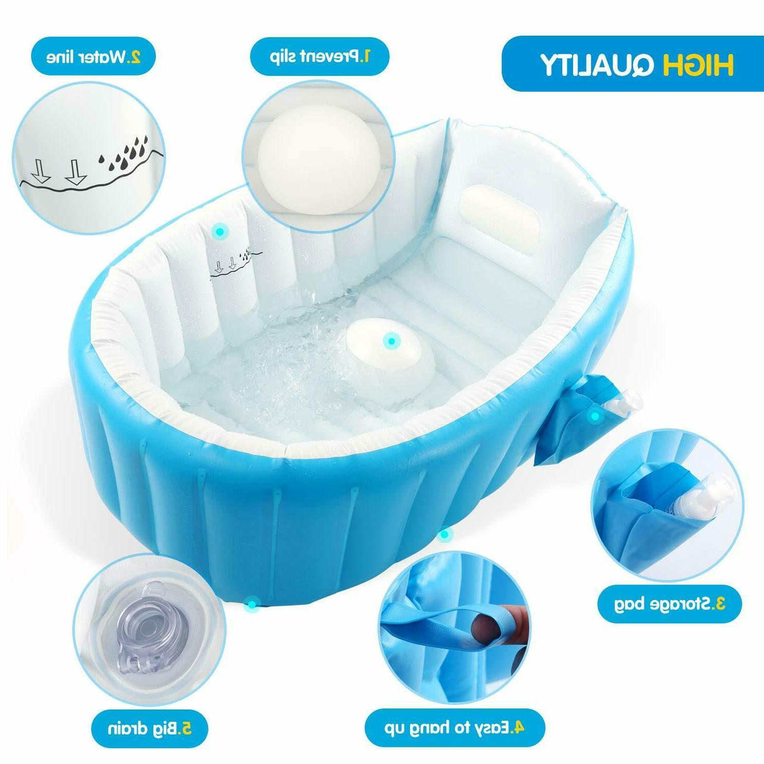 Baby Inflatable Bathtub Portable Bathing For