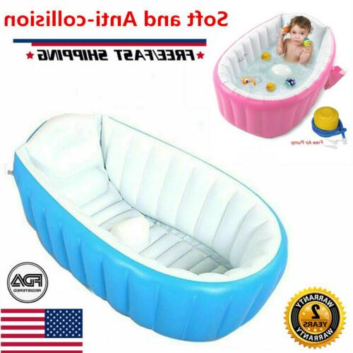 portable baby infant inflatable bath tub seat