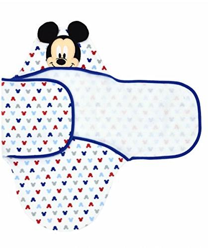 Disney Mouse Embroidered Hooded White, Blue, Grey,