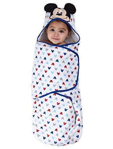"""Disney Embroidered Hooded Bath White, Red, 24.5""""L X"""
