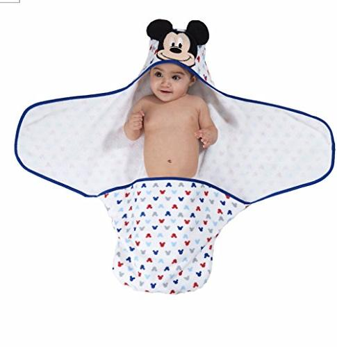 """Disney Baby Embroidered Hooded Bath White, 24.5""""L X"""