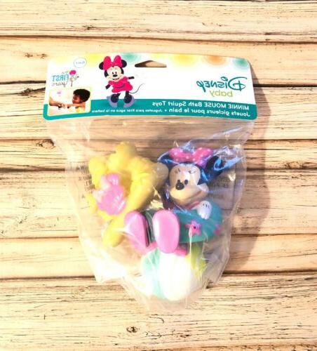 baby minnie mouse bath squirt toy set