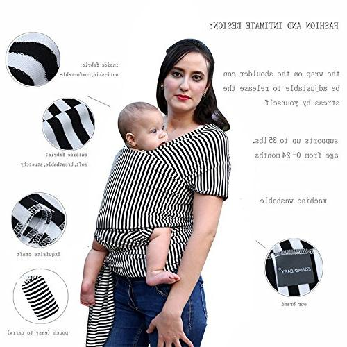 Squeeque Backpacks Carriers - Carrier for Newborns Soft Wrap Wrap Breastfeed Birth Comfortable Cover PCs