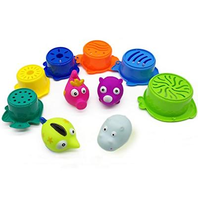 Little Bathtub Toys for to Month Stacking