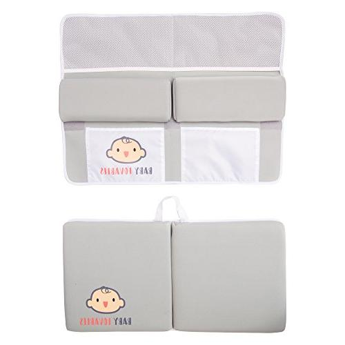 pad Rest Set- Knee mat for Bathing time. Bathtub Kneeling Cushion mats for or Baby Accessories. Bathtime Knee Shower Gift.