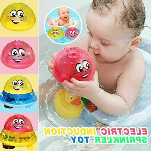 children electric induction sprinkler water spray toy