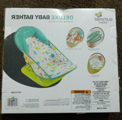 Summer Infant Deluxe Baby Bather NIB- Sling Whalin' Around