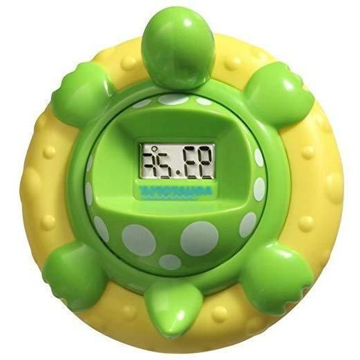 deluxe safety bath thermometer alarm green baby