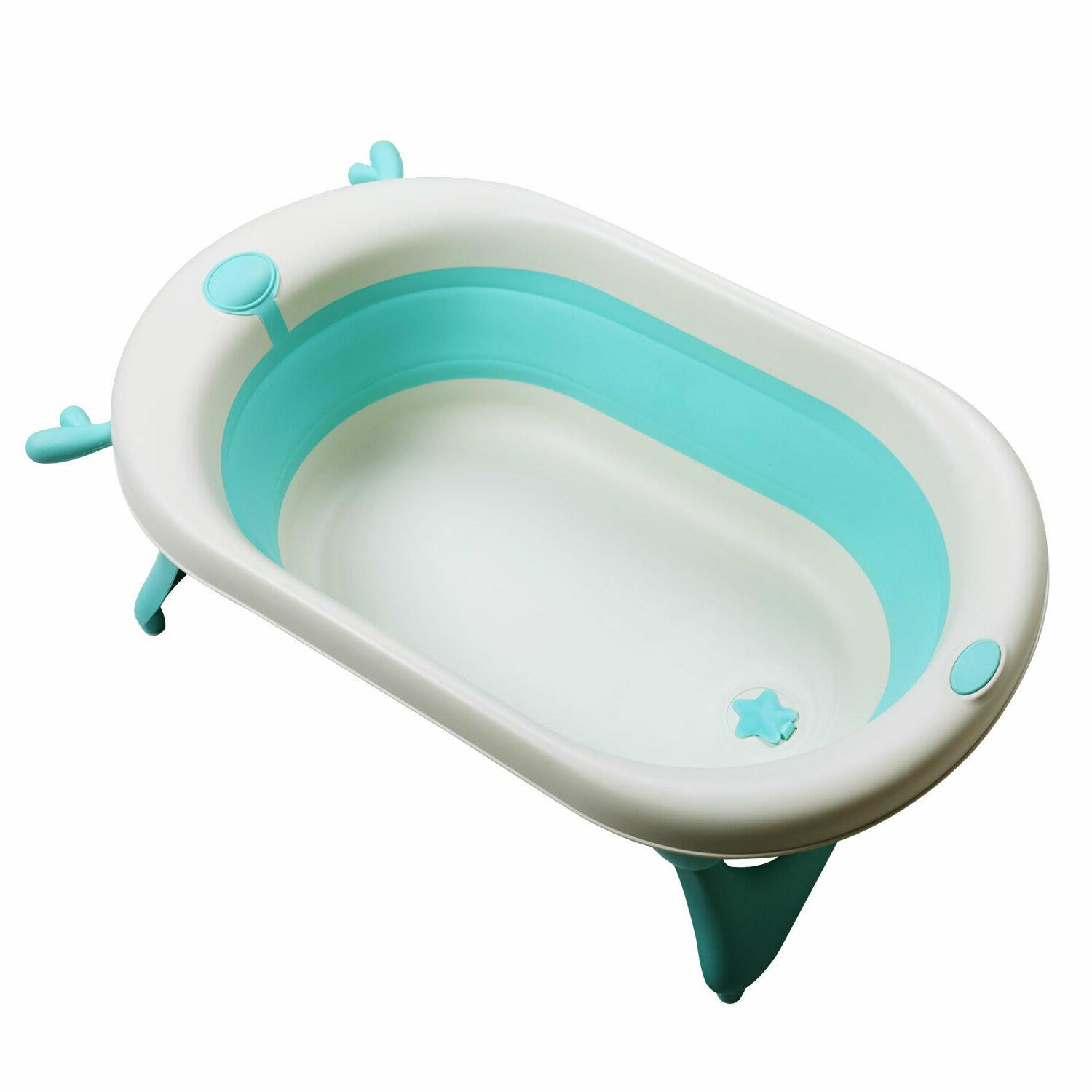 Folding Baby Shower Collapsible Tub Nonslip